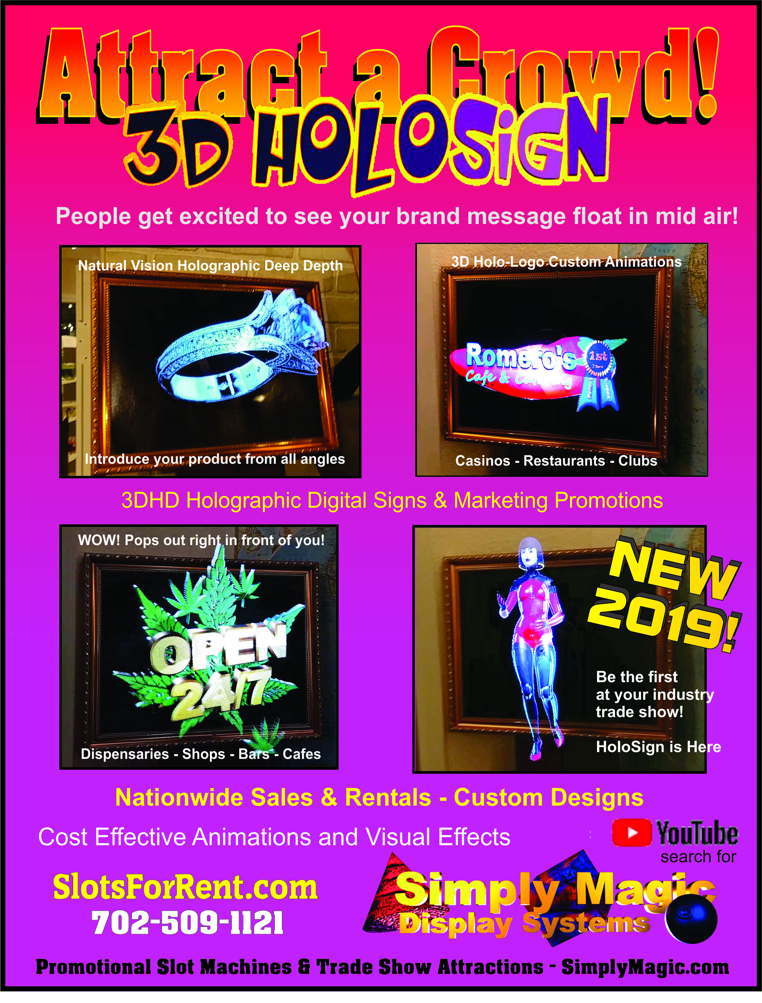 3D HoloSign Holographic Info Sheet