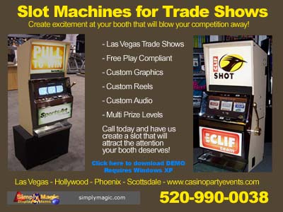 Convention Trade Show Slot Machine Rentals Las Vegas